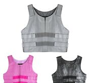 Womens Bullet Proof Style Leather Motorcycle Vest Bikers Club Tactical Vest