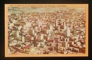 1930s Aerial View Of The Business District Of Oakland Ca Alameda Co Postcard