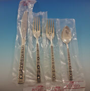 Spanish Tracery By Gorham Sterling Silver Flatware Set Service 34 Pieces New