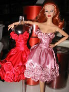Convention Exclusive Floral Rose Fashion For 12-inch Dolls By Dressmaker Details