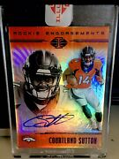 2018 Panini Illusions True 1/1 One Of One Courtland Sutton Rc Encased