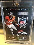 Courtland Sutton Rc 2018 Panini Origins Rookie Patches Nfl Shield 1/1 One Of One