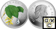 2010 Maple Leaf Crystal Raindrop Color And Crystal Prf 20 Silver .999912683 Nt