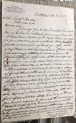 Great Signed 1899 Elias Brevoort Santa Fe New Mexico Real Estate Lands Letter