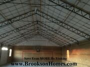 Steel Truss 40and039 Heavy Duty For Pole Barn - Used On 12and039 Centers
