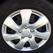 4 Pc Durable Abs Set Of 16 Silver Hubcaps Wheel Cover Oem Replacement