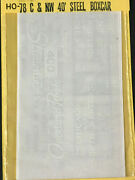 Cds Lettering Dry Transfers Ho Scale 78 Candnw Chicago And North Western Boxcar Set