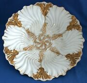 Meissen Early Rococo White With Gold Gilt Shallow Bowl / Deep Swirled Design