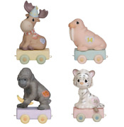 Precious Moments Age 13-16 Bundle Of Birthday Train Set Of 4 - Ages 13, 14, 15 And