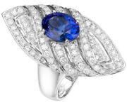 2.07ct Natural Round Diamond 14k White Gold Sapphire Cocktail Ring Size 7 To 9