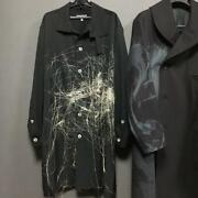 19aw Yohji Yamamoto Pour Homme Embroidered Shirt From Japan Free Shipping