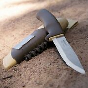 Mora Bushcraft Survival Desert Fixed Knife With Stainless Blade Synthetic Handle