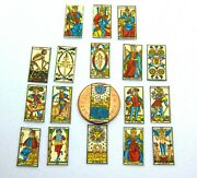 112 Scale Set Of 18 Tarot Cards Tumdee Dolls House Miniature Game Accessory