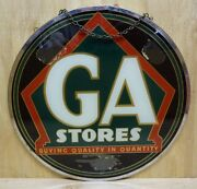 Old Ga Stores Grocery Country Store Co-op Sign Reverse Glass Double Sided Ad