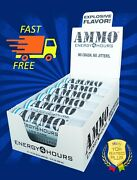 Ammo Energy Shot - Blue Razz Low Carb 72 Pack Better Than 5 Hour Energy Drink