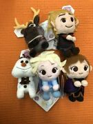 Frozen Ii And You Plush Mascot Doll Set Of 5 Prize 9cm Sega Official Gift