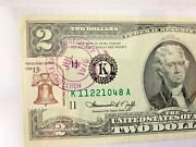 Ext Rare Us Two Dollar Bill W 1976 Uspo- Stamp And President G. Ford Autograph