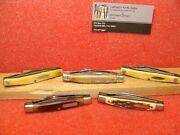 Schrade Walden Ny Usa--1970-80 Group 5 Stockman 3 1/4 Old Timer, Uncle Henry