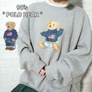 Polo Star And Stripe Polo Bear Sweat Xl Vintage 90s F/s From Japan
