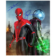 Tom Holland, Jake Gyllenhaal Autographed Spider-man Far From Home 16x20 Photo