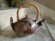 Artisan Tea Pot Pottery Duck Shaped Hand Made And Signed