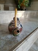 2 Artisan Tea Pot Pottery Duck Shaped Hand Made And Signed Each