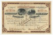 1882 Tennessee Coal Iron And Railroad Company Stock Certificate