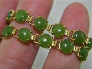 Regal Townand Country 10k Yellow Gold 7.5 Bracelet W Apple Green Jade