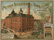 Peter Schemm And Son Brewery 9 X 12 Sign
