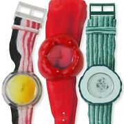 Rare Vintage Swatch Vegetable Collection Lot Of Three Limited Edition