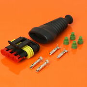 Ducati 4 Way Fuel Tank Connector Kit To Fit Loom Side With Terminals Seals Boot