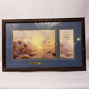 Thomas Kinkade Certified The Sea Of Tranquility Accent Prints Bible Quote Framed