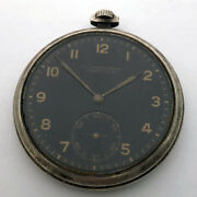 For Part Lange And Sohne Glashutte Silver Black Dial Pocket Watch Vintage Repair