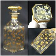Antique Baccarat Gold Large Decanter Made In France From Japan Free Shipping