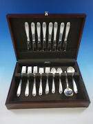 Southern Charm By Alvin Sterling Silver Flatware Set For 8 Service 40 Pcs
