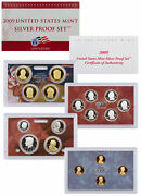 2009 S United States Us Mint Silver Proof 18 Pc Set In Mint Packaging