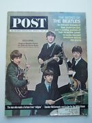 The Beatles Front Cover And039 Saturday Evening Post And039 March 1964 - Excellent