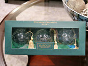 New Marquis Waterford Crystal Christmas Holiday Winterfest Set Of 3 Ornaments