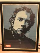 Obey Rotton Silkscreen Lithograph Autographed With Serial Number Genuine F/s