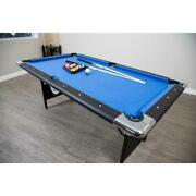 Portable Pool Table 6 Ft Folding Legs Game Room Billiard Family Kids Playing New