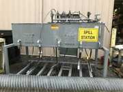 Continental Hydraulics 300 Gallon 4 Bay Oil Tank/ Polypac P88-957 Spill Station