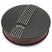 Edelbrock 41173 Classic Black Air Cleaner For Single 4-bbl Carb - 3 Element