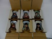 Miniature Collector Plate's - Portraits By Perillo - Lot Of 6 Plates
