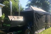 Stainless Steel 2010 Custom-built 10and039 X 24and039 Open Kitchen W/ Bbq Smoker Trailer F