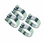 4 X Mikalor Stainless Heavy Duty Coolant/exhaust Clamps Suprapro 73mm - 79mm