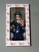 Ornaments For Officers Policeman Santa Glass Christmas Ornament New