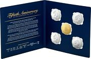2019 50th Fiftieth Anniversary 50 Cent 5 Coin Set Inc Gold Plated 50c