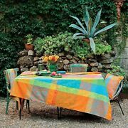 Garnier-thiebaut Mille India Festival French Jacquard Tablecloths Coated And Non