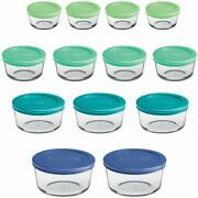 Anchor Hocking Classic Glass Food Storage Containers With Lids Mixed Blue