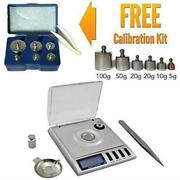 Portable High Precision Milligram Digital Scale 20g + Free Calibration Weigh Kit